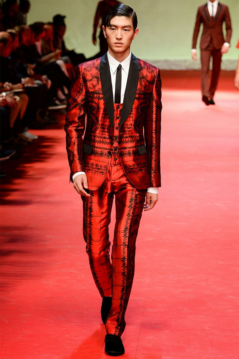 Dolce Gabbana Spring Summer 2015 Mens Fashion Show Milan Fashion Week Dgss15